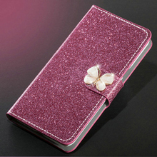 New Fashion Luxury Glitter Diamond Leather Case Xiaomi Redmi Note 5 Pro Plus 5A Wallet Original Flip Phone Cover