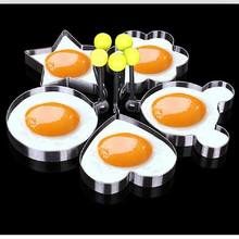 Breakfast Fried Egg Mold Stainless Steel Shaper Pancake Poach Egg Ring Mould Heart Star Flower minie Round Kitchen Cooking Tool(China)