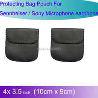 2pcs Pro Carry Case Protecting Bag Pouch For Sennheiser / Sony earphones Lavalier Microphone