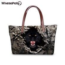 WHOSEPET Frauen Handtaschen Puma 3D Druck Tote Handtasche Hohe Qualität Nylon Taschen Wasserdichte Weibliche Tiger Tragetaschen Top Hot
