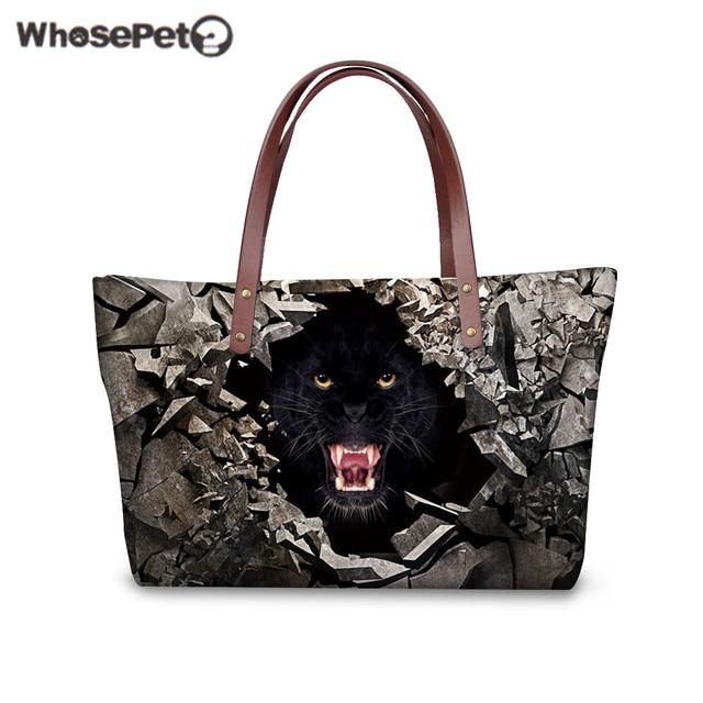 a1e5f95762 WHOSEPET Women Handbags Puma 3D Printing Tote Handbag High Quality Nylon  Bags Waterproof Female Tiger Tote Bags Top Hot