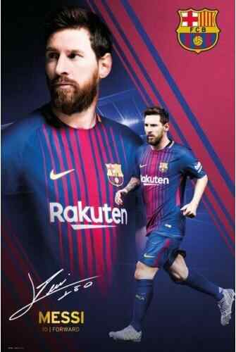 LIONEL MESSI - 2018 BARCELONA FOOTBALL SOCCER SILK POSTER Decorative Wall painting 24x36inch