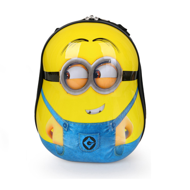 13 Inch Cute Baby Children School Bag 3D kids character minion backpacks boy Backpacks Shell animal kindergarten school bag