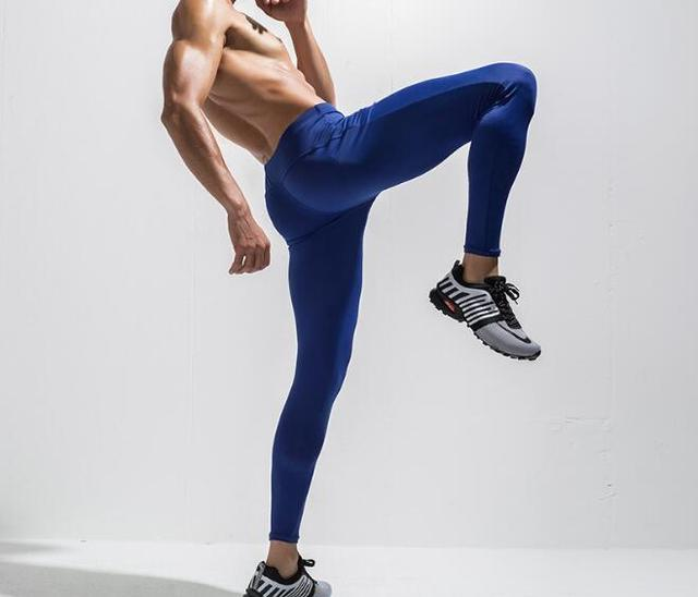 Men s Compression Pants Running Sports Tights Leggings Quick Dry For Men  Youth Boy Royal Blue Grey Black Free Shipping 4b017276d2f5