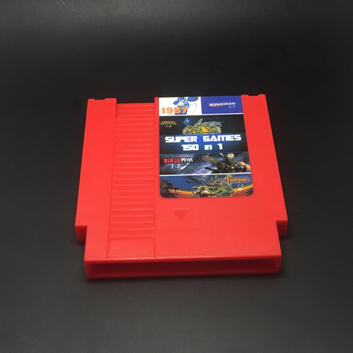 72pins 150 in 1 Game Cartridge with game Rockman 1 2 3 4 5 6 NINJA TURTLES Contra Kirby's Adventure (Battery Save) Red or Grey