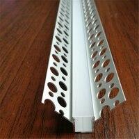 Precio 5 30 unids lote 100cm ángulo negativo de la placa de yeso de Perfil de aluminio
