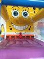 Spongebob bouncer casa do salto inflável pulando castelo inflável jumper de moonwalk trampolim brinquedos para as crianças