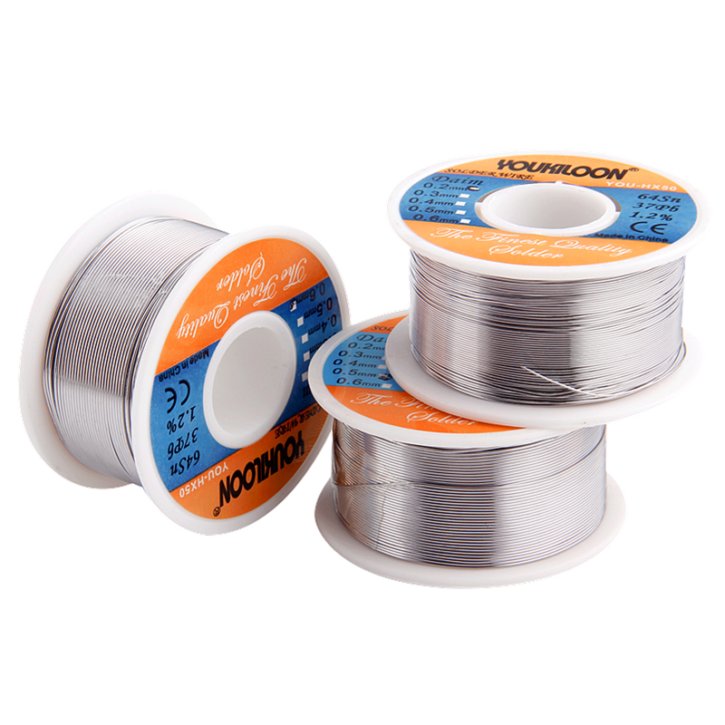 1pc Tin Solder Wire 0.3/0.4/0.5/0.6mm Welding Wire 100g Free Clean Solder Core Tin For Electric Welding Iron Soldering Supplies Сварка