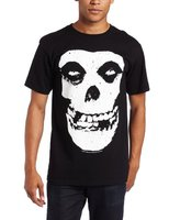 Tee4U Awesome Tees Crew Neck Men Graphic Short Sleeve Misfits Skull And Logo T Shirts