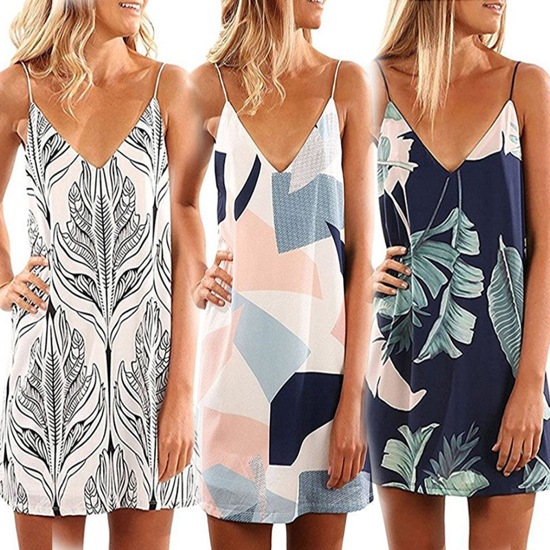 Shop338252 Store 2017 Limited Sale Polyester Bohemian Print Office Dress And The Printing Condole Belt Dress Block Specifically For Cross-border