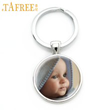 TAFREE Personalized Custom Keychain Photo Of Your Mum Dad Baby Children Grandpa Parents Custom designed Photo Jewelry NA01