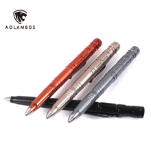 Outdoor self-defense tactical pen multi-function tungsten steel head pen with LED light /samll knife blade for glass breaker