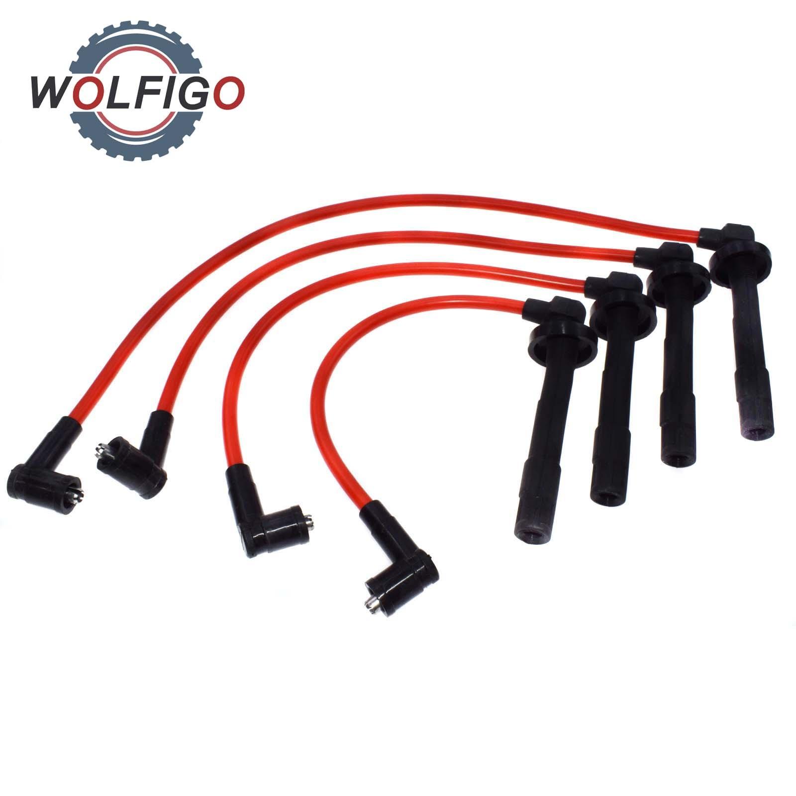 wolfigo 4 pcs ignition racing coil spark plug wires 8034. Black Bedroom Furniture Sets. Home Design Ideas