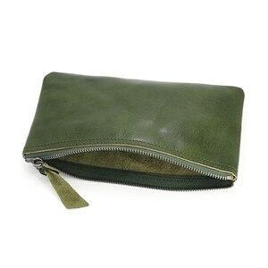 Image 4 - ผู้หญิงกระเป๋าสตางค์แฟชั่นหนังแท้ซิป Slim กระเป๋า Cowhide LADIES กระเป๋าสตางค์โทรศัพท์หญิงขนาดเล็กเหรียญเหรียญเงินกระเป๋า