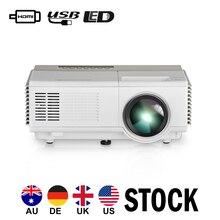 HD Mini Portable LED Multimedia Projector Home Theater Video Movie Game HDMI USB VGA AV 1080P CE FCC Certificated 1Year Warranty