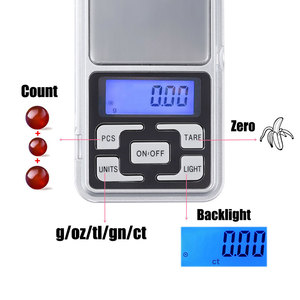 Image 3 - Electronic Digital Pocket Scale 0.01g Precision Mini Jewelry Weighing Scale Backlight Scales 0.1g for Kitchen 100/200/300/500g
