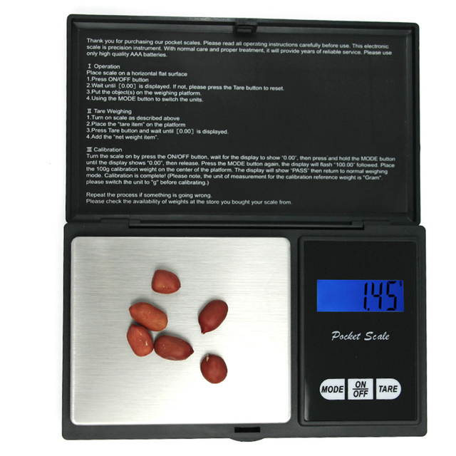 Timbangan Digital Perhiasan Emas 100G 500G X 0.01G Berat Gram LCD  1