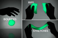 Novelty Educational Luminous Shining Bright In Night Dark Bouncing Silly Putty Handgum Kids Fun Toys with Box Magnet Plasticine