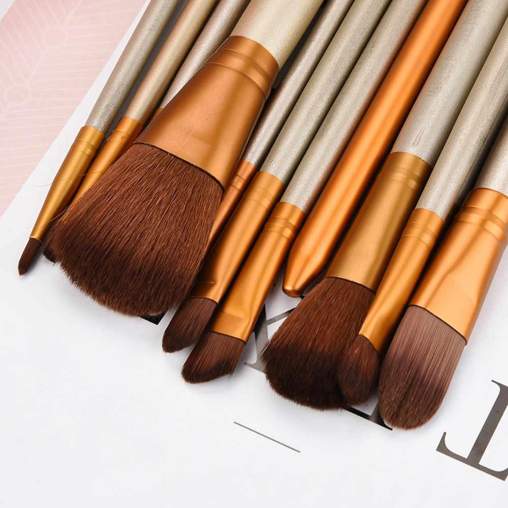 Complet professionnel pinceaux de maquillage 12 pièces Beauté Définie Outils Fondation Poudre Brosse pour Brillant À Lèvres et Rouge À Lèvres Produits 2018