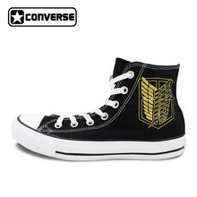 1c858deb178c Golden Wings Converse All Star Women Men Shoes Attack On Titan Jiyuu no  Tsubasa Anime Design Hand Painted Shoes CosPlay Sneakers
