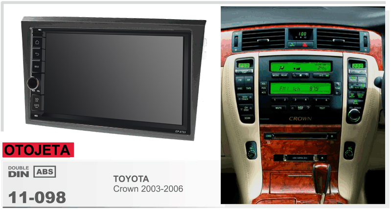 Fit for toyota crown 2003 2006 aquad core android 8.1 frame plus car radio multimedia stereo head units tape recorder gps