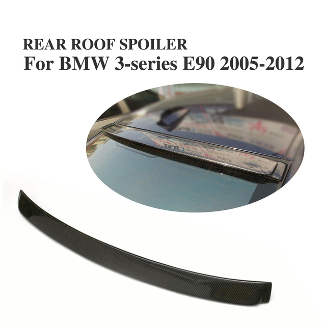 Carbon Fiber Rear Roof Spoiler Window Wing For BMW 3 Series E90 328i Sedan 2005-2012 Car Styling