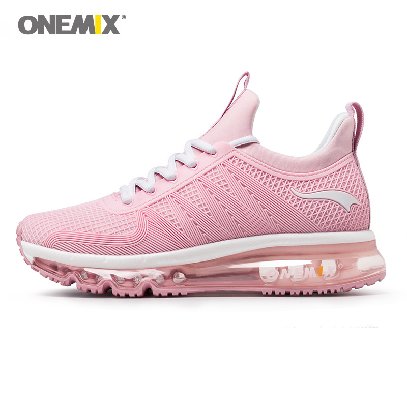 Onemix Women Air Running Shoes Shock Absorption Sports Sneaker Breathable Light Sneaker for Outdoor Walking Jogging Shoes цена 2017