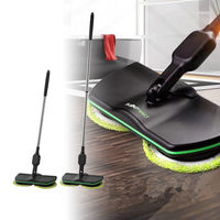 New Spin Maid Rechargeable Cordless Powered Floor Cleaner Scrubber Polisher Mop Floor Cleaner