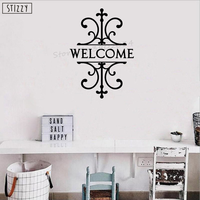 stizzy wall decal welcome sign livingroom wall sticker front door