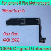 Без Touch ID для iphone 8 Plus материнская плата с чистой iCloud, оригинальный разблокирован для iphone 8 Plus 8 P материнская плата + полные чипы