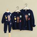 Corea Del sur fábrica de otoño e invierno de la familia de la moda t-shirt madre e hija Oso Algodón Camisetas Family Pack