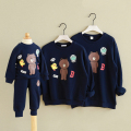 South Korea factory autumn and winter fashion family fitted T-shirt mom and daughter Bear Cotton T-shirts Family Pack