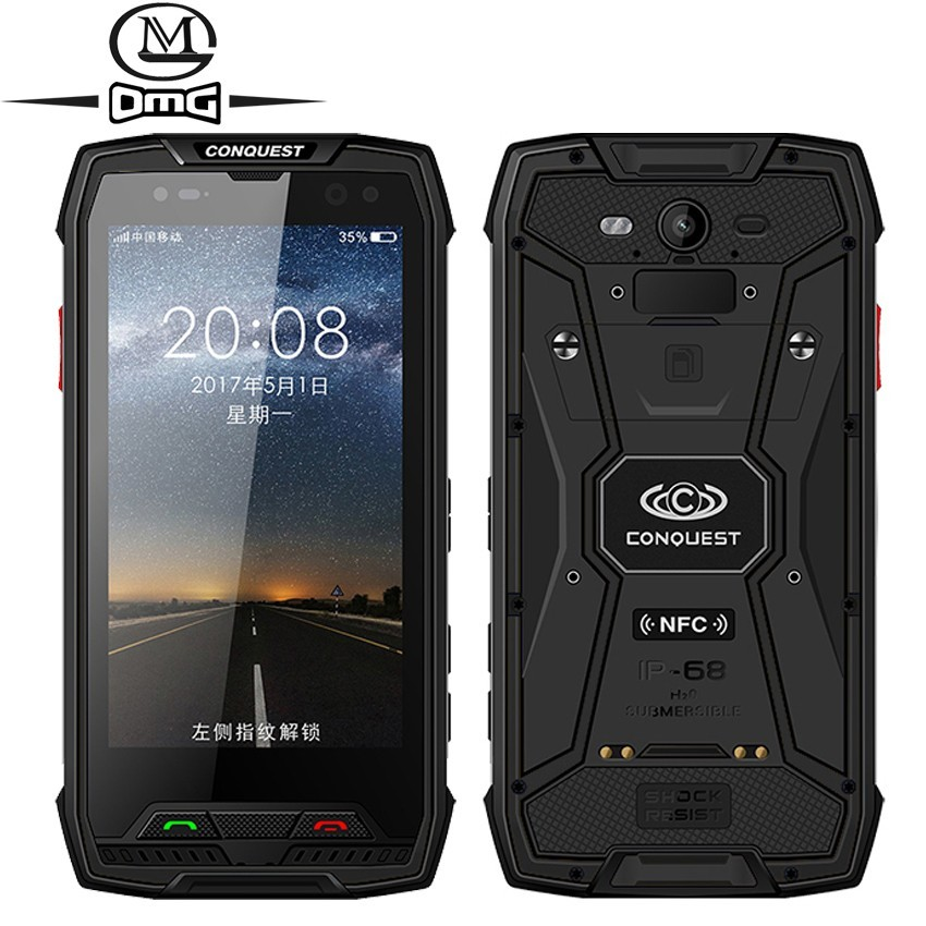Conquest S11 7000mAh NFC OTG IP68 Shockproof 4G <font><b>Smartphone</b></font> <font><b>Android</b></font> <font><b>7.0</b></font> 6GB RAM 128GB 128GB ROM cell phones Rugged mobile Phone image