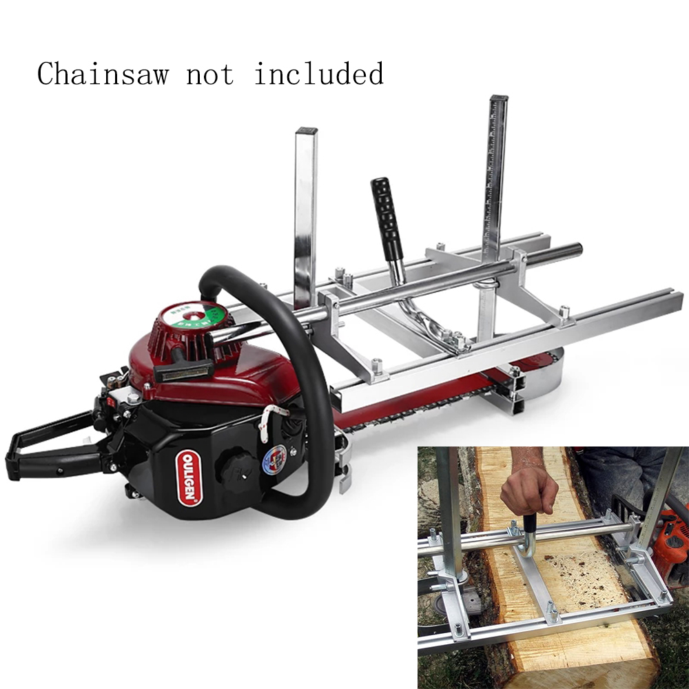 """60cm Portable Chainsaw Mill Planking Chainsaw Milling Bar Size 14"""" 24"""" Adjustable Guide Bar Lumber Chainsaw Cutting Tool