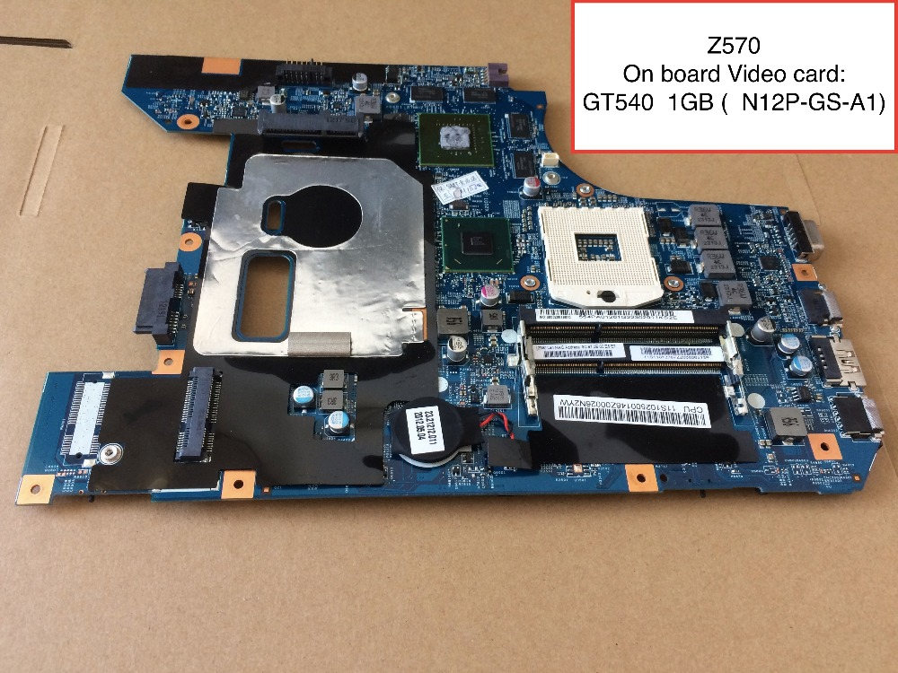 Free Shipping For Lenovo Z570 Laptop Motherboard with GT540M 1GB video card цена