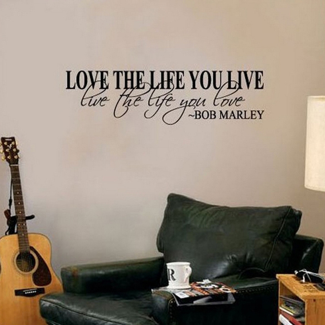 Hot Selling Bob Marley Quote Wall Decals Decor Love Life Words Large Nice  Sticker Text Room