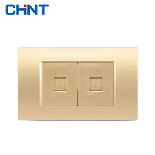 цена CHINT Telephone Connector Network Socket NEW5D Kim Two Telephone Computer Socket онлайн в 2017 году