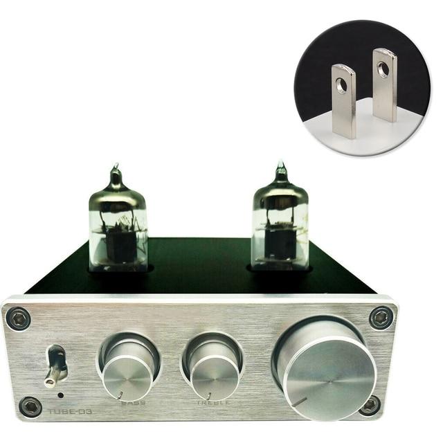 HIFI Vacumn 6J1 أنبوب عالمي RIAA قبل مكبر للصوت قابل للتعديل القرص الدوار سماعة Preamp الألومنيوم فونو Mini Home