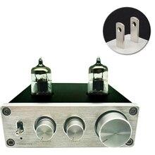 Hi Fi Vacumn 6J1 трубный универсальный усилитель RIAA, предварительно Регулируемый с поворотной антенной и гнездом для наушников, усилитель алюминиевый Phono Mini Home