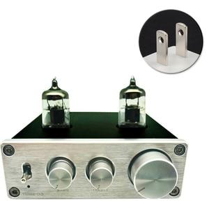 Image 1 - Hi Fi Vacumn 6J1 трубный универсальный усилитель RIAA, предварительно Регулируемый с поворотной антенной и гнездом для наушников, усилитель алюминиевый Phono Mini Home