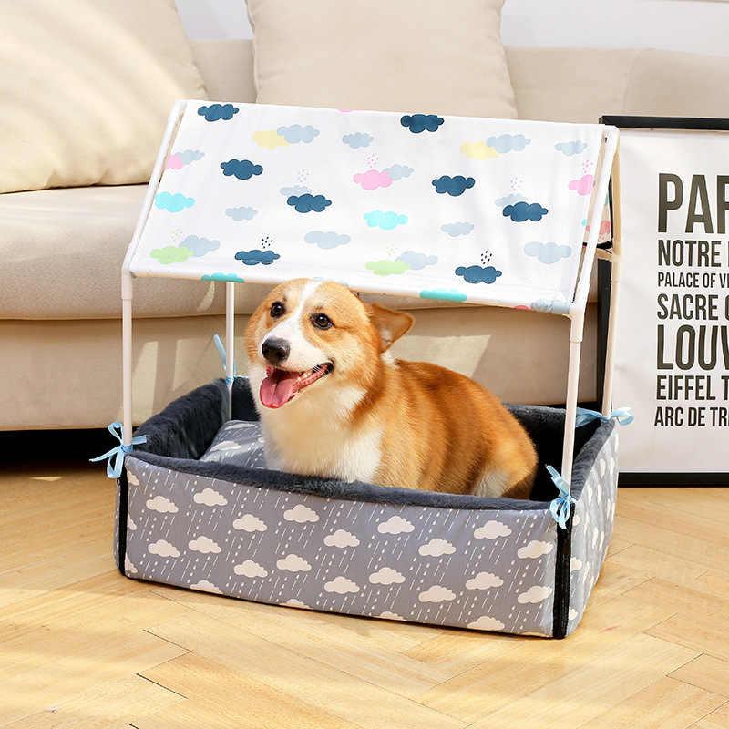 חיות מחמד כלב מיטת התחממות כלב בית רך חומר קן כלב סלי סתיו וחורף חם מלונת חתול גור חינם