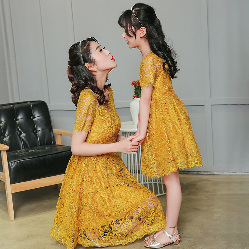Summer Dress Girl Matching Mother Daughter Dress Lace Dresses For Wedding Party Family Look Vestido Mae E Filha Girls Dresses 2015 ma e filha page 1