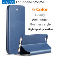 Luxury Phone Case For Apple Iphone 5s 5 SE Hight Quality PU Leather Full Protective Back