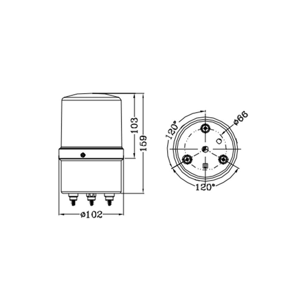 lte 5103j led piscando luz estroboscopica sirene industrial 01
