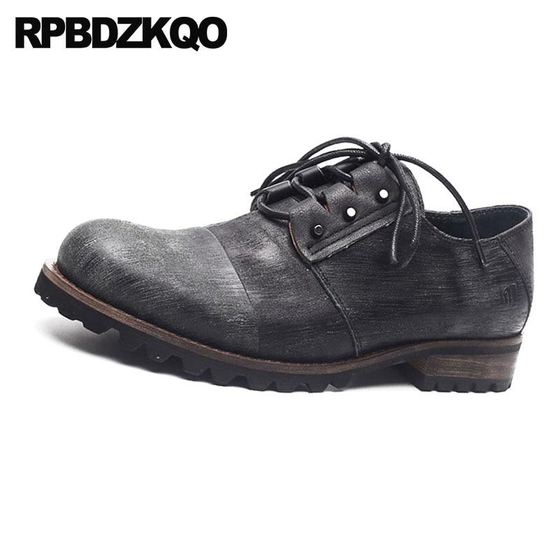 Estilo Lujo Los Zapatos De Hombres Genuino Negro La Vintage Europea Marca Trabajo Italia Calidad Baile Negro Británico Oxfords marrón Real Cuero Alta Vestido qOP5AtYxnY