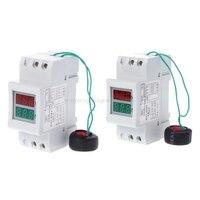 2P 36 мм din-рейка двойной светодиодный измеритель напряжения тока Вольтметр Амперметр AC 80-300V 250-450V 0-100A Mr22 19 Прямая поставка