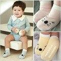 Adorável bebê meninas meias crianças criança rosa de algodão branco meias gato crianças respirável meias curto tornozelo Anti-slip 0 para 4y
