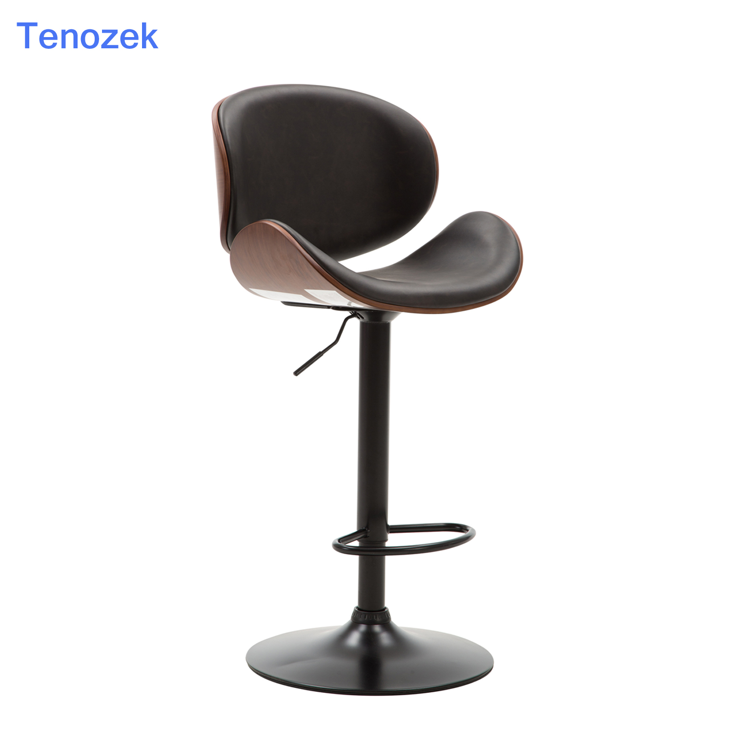 Chair Bar Stool 2Pcs Height Adjustable Lifting Pub Chair With Footrest Leather Stools Counter Kitchen Chair