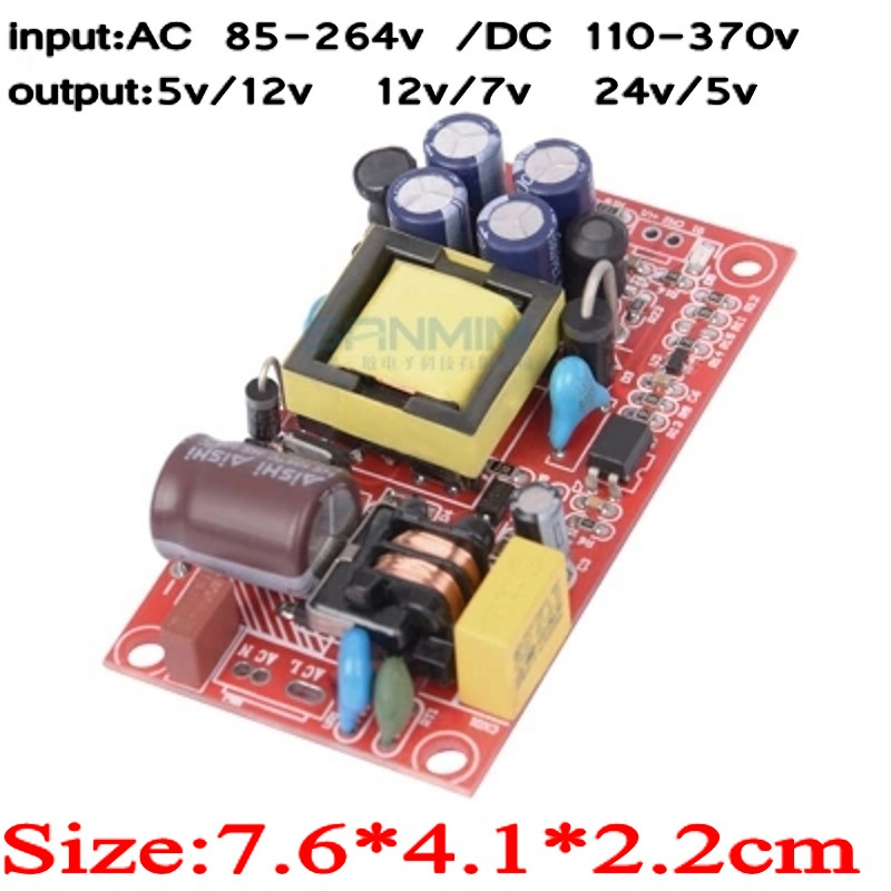 1pcs AC220V-DC24V/<font><b>5V</b></font> <font><b>5V</b></font>/12V 12V/7V 17W Dual <font><b>Power</b></font> <font><b>supply</b></font> Isolated switch <font><b>power</b></font> <font><b>supply</b></font> module 12v/<font><b>1A</b></font> <font><b>5V</b></font>/<font><b>1A</b></font> bare board L1209 image