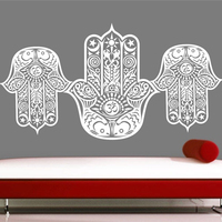 Hand Buddha Quotes Namaste Wall Decals Yoga Mandala Wall Stickers For Living Rooms DIY Home Decor Yoga Lotus Decoration
